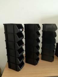 Bins suporte de plástico para armazenar peças ou materiais tamanhos 4, 5 e 6