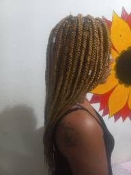 Trança solta(box braids)