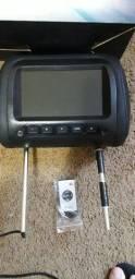 """kit encosto de cabeça DVD com tela HD 7"""" preto"""