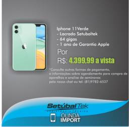 Iphone 11 Verde 64 gigas Lacrado Setubaltek