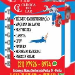 I. Mecânico de refrigeração, Geladeira, Frezer, Eletricista