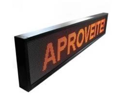 Título do anúncio: R$ 499 Letreiro Painel LED Digital   Vermelho   100x20 USB