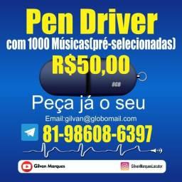 Pen Driver com Músicas Todos os estilos