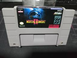 Cartucho Mortal Kombat 2 original americano - Super Nintendo