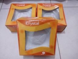 3 Jogos de pratos crystal por R$100,00