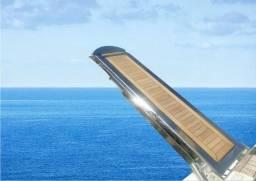 Passarela e plataforma hidráulica em aço inox 316 para lancha
