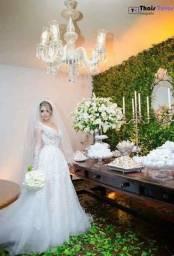 Vestido de noiva princesa e sereia