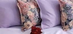 Kit de almofadas decorativas completas capa e enchimento Só com zíper