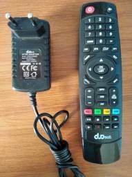Controle remoto, fontes e antenas