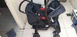 Conjunto de carrinho mais bebê conforto + canguru<br>