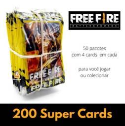 50 Pacotinhos Free Fire | São 200 Cards | Revenda