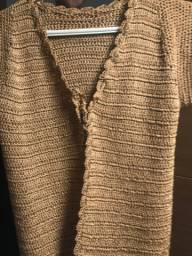 Vendo jaqueta de crochê, casaco, sapato
