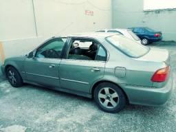Honda Civic Automático Ano 2000 Completo de tudo com GNV e placa Mercosul