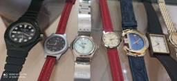 Lote de 18 relógios para venda direta - modelos quartzo e mecânicos originais