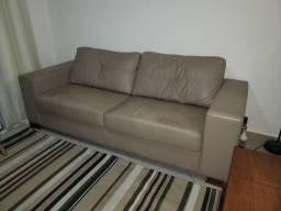 Sofa em couro natural