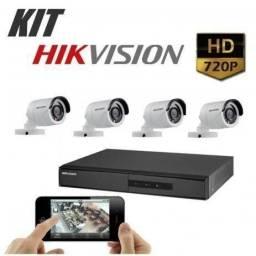 Kit Completo Cftv Hikvision 04 Câmeras+ Instalação