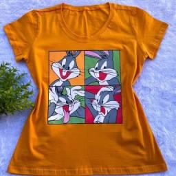 Título do anúncio: Kit Com 2 Blusinhas Tshirts Tamanho P 100% Algodão