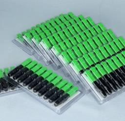100 pcs conector para fibra óptica ftth sc-apc single mode