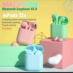 Fone Intra-Auricular Sem Fio Bluetooth i12 Tws Inpods Airpods PK i7 i9