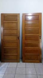 ( 2 )Porta madeira maciça + ( 1 ) porta de ferro c/ vidro e fechadura ótimas !!/p/ cartão