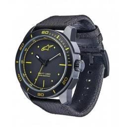37f1de73219 Adventure MotoWear Relógios Alpinestars Tech Chrono Preto Amarelo (Pulseira  de Nylon)