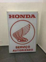 Luminoso Honda - Serviço Autorizado - Anos 80 - PERFEITO ESTADO