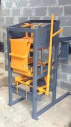 Maquina manual para fabricação de blocos de concreto