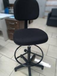 Cadeira caixa escritório alta novas