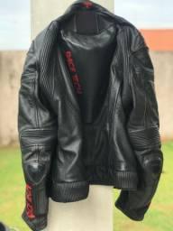 Macacão RACE TECH 2 peças couro e jaqueta TEXX