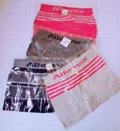 Kit 3 cuecas boxer 89% poliiester e 11% elastano alta qualidade