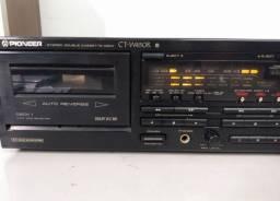 Tape deck duplo cassette Pioneer