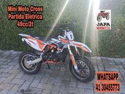 Mini Moto Cross Ferinha 49cc/2t Em 12 Vezes sem Juros