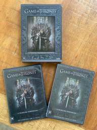 Box (DVDs) 1a, 2a e 3a temporada de Game of Thrones