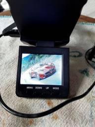 Câmera  automotiva  portátil usada.