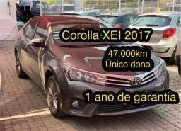 Título do anúncio: Corolla XEI 47.000km 2017 u.dono 1 ano de garantia