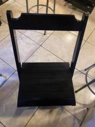 Mesas e Cadeiras de madeira Dobráveis Preta