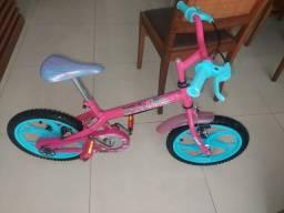 Bike barbie rosa e azul infantil
