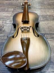 Violino 4/4 Rolim brasil premium Serie madeira nobre Araucaria Sombrear Orquestra Ccb
