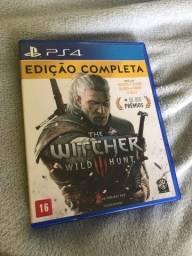 Título do anúncio: THE WITCHER PS4 - CD ORIGINAL