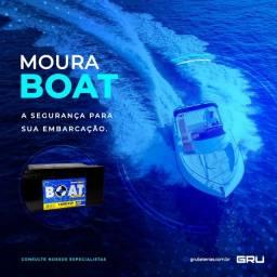 Título do anúncio: Bateria Náutica: Moura Boat | Baterias Moura A Base de Troca So Entregamos em Guarulhos