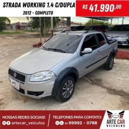 Strada working 1.4 cabine dupla 2012 completa !!