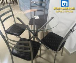 Mesa com 4 Cadeiras Ipanema NOVA