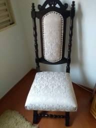 Cadeiras coloniais imbuia maciça
