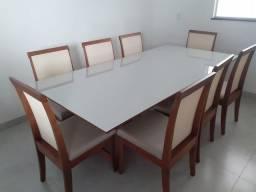 Título do anúncio: Mesa de madeira maciça oito lugares nova completa pronta