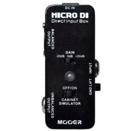 Direct Box Guitarra Baixo Mooer Micro Di Direct Box Mdi1