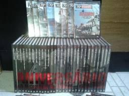 Coleção livros e DVDs 70 anos segunda guerra mundial, completa lacrada.