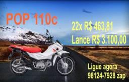 VENDO POP 110 Lance R$ 3.100,00 Consórcio Andamento