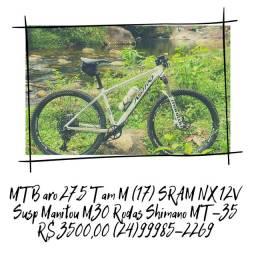 Bicicleta Mountain Bike MTB aro 27,5 SRAM NX 12V