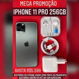 iPhone 11 Pro 256gb, aceitamos seu iPhone usado como parte do pagamento.