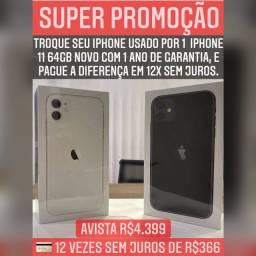 iPhone 11 64gb novo lacrado com 1 ano de garantia Apple, com nota fiscal em 12x sem juros